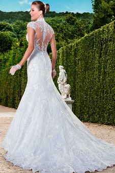 Abito da sposa moda Queen Anne Maniche Corte All Aperto Naturale Gonna lunga