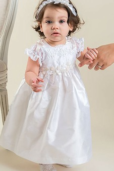 Abito cerimonia bambina Naturale Farfalla Ornamento Primavera stivali alla caviglia