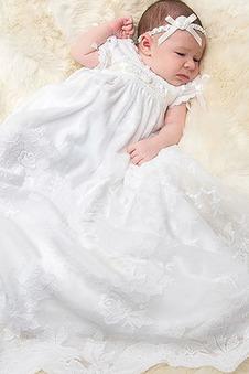 Abito cerimonia bambina Primavera alta vita/cintola Lupetto Pizzo francese