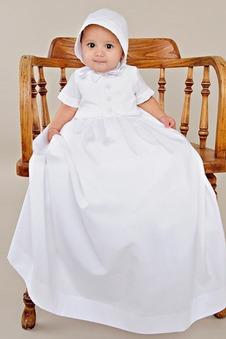 Abito cerimonia bambina Naturale Bottone A Terra Formale Principessa Raso