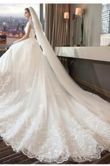 Abito da sposa Cappellini Formale Tulle Naturale a linea Gonfio