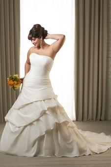 Abito da sposa Chiesa Senza Maniche senza spalline Formale Naturale