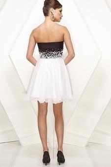 Vestiti 18 anni Bianco Naturale Corti paillettes Cuore Mezza Coperta