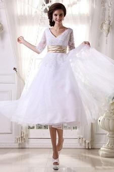 Abito da sposa Corti Naturale Bianco Senza schienale Principessa all'aperto