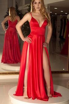 Abito da ballo Lungo Semplici Naturale Ball Gown Spacco Davanti Fessura anteriore