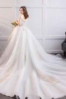 Abito da sposa abbondante Allacciato Naturale Cappellini A-Line Fuori dalla spalla
