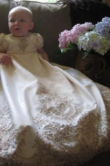 Abito cerimonia bambina Pouf maniche Alta Coperta Lungo Primavera decorato