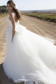 Abito da sposa a linea Applique Naturale Senza Maniche Schiena Nuda