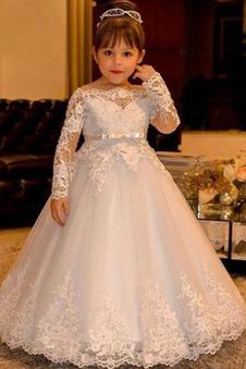 Abito cerimonia bambina Farfalla Ornamento Tulle Perline eleganza stivali alla caviglia