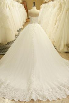 Abito da sposa Formale Lace Coperta Lungo Raso A-Line Senza Maniche