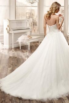 Abito da sposa Queen Anne Tulle Maniche Corte Ball Gown Gilet Lungo