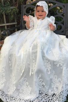Abito cerimonia bambina decorato Naturale Principessa Non Specificato Farfalla Ornamento