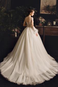 Abito da sposa Non Specificato Maniche Lunghe Allacciato Illusione maniche