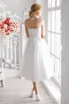 Abito da sposa Pizzo Affascinante Bendaggio decorato A-Line Cappellini