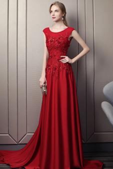 online store 09654 b2aed Abito da sera rosso prezzi economici online negozi