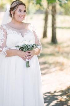 Abito da sposa Premaman alta vita/cintola Cerniera Applique Maniche Lunghe