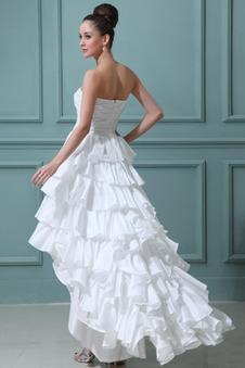 Abito da sposa all'aperto Caduta moda Cascata Volant Taffeta Altalena