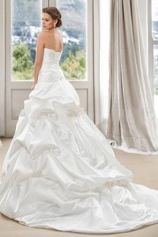 Abito da sposa senza spalline Senza Maniche Bassa Ball Gown Taffeta