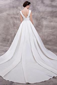 Abito da sposa Eleganti Chiesa Non Specificato Pieghe Scollo a v V