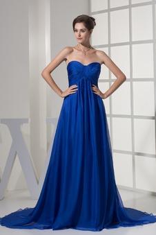 Vestito blu Semplici Chiffon Una linea pavimento lunghezza Non Specificato  ... d7aa7074f2b