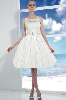Abito da sposa Farfalla Ornamento trendiness decorato Raso Puffy Bianco