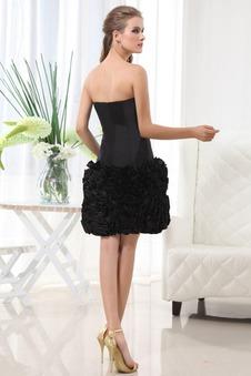 Abito da sera nero corto moda Bassa Esclusivo Ball Gown taffettà di cotone