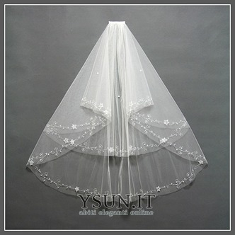 Velo da sposa Lungo Breve moda Con il pettine bordo tornito Multi Strati - Pagina 5