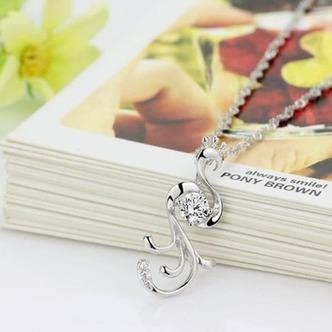 Donne moda pavone collana & pendente argento intarsiate del diamante - Pagina 2