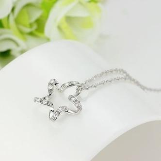 Clavicola donne argento cinque punte diamante intarsiato stella & collana - Pagina 2