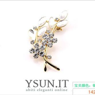 Vendita calda donne accessori cristallo foglia spilla di diamanti intarsiati - Pagina 2