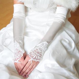 Guanti da sposa Primavera Spiaggia Applique Ombra Bianco Spessore - Pagina 1