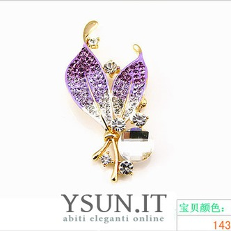 Commercio all'ingrosso donne intarsiato di stile di diamante nuovo cristallo Pin spilla - Pagina 4