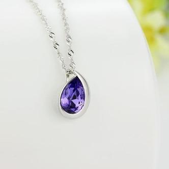 Commercio all'ingrosso d'argento a forma di cuore cristallo donne collana & ciondolo - Pagina 3