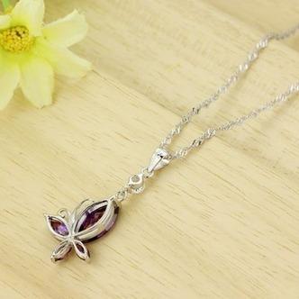 Moda viola diamante intarsiato insetto argento collana & - Pagina 4