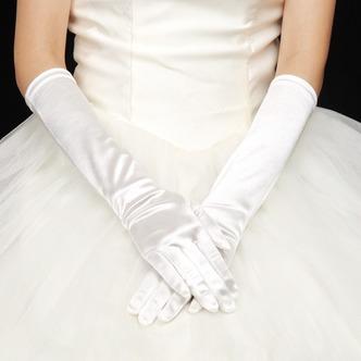 Guanti da sposa Pieno finger Primavera Spessore Caldo Chiesa taffettà di cotone - Pagina 1