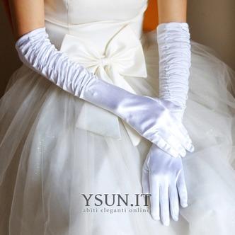 Guanti da sposa Spessore Classe Taffeta Bianco treccia Pieno finger - Pagina 1