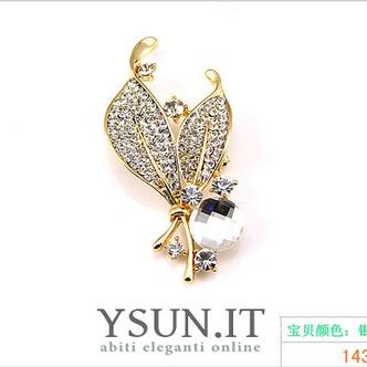 Commercio all'ingrosso donne intarsiato di stile di diamante nuovo cristallo Pin spilla - Pagina 6
