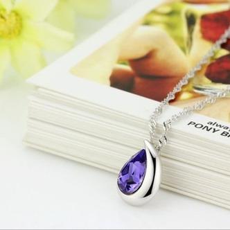 Commercio all'ingrosso d'argento a forma di cuore cristallo donne collana & ciondolo - Pagina 2