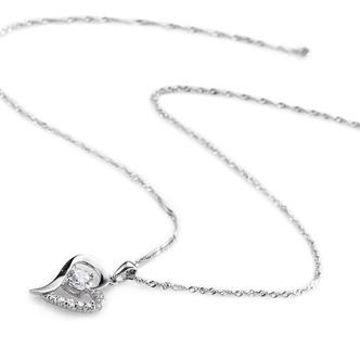 Vendita calda a forma di cuore placcatura donne Bright Shine & ciondolo collana - Pagina 2