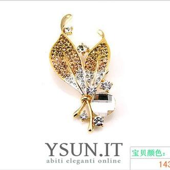 Commercio all'ingrosso donne intarsiato di stile di diamante nuovo cristallo Pin spilla - Pagina 3