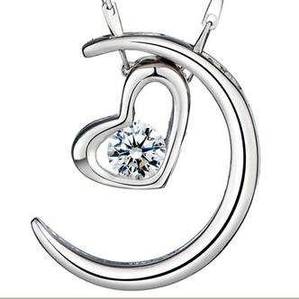 Argento a forma di cuore di placcatura decorazione Hot vendita collana pendente - Pagina 1