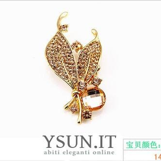 Commercio all'ingrosso donne intarsiato di stile di diamante nuovo cristallo Pin spilla - Pagina 5