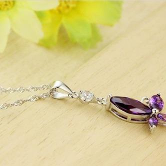 Moda viola diamante intarsiato insetto argento collana & - Pagina 3