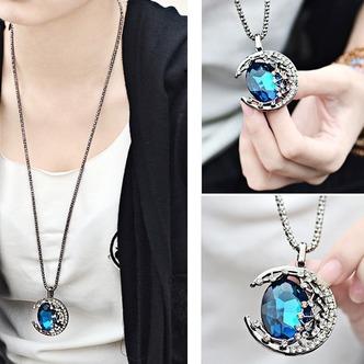 Prodotto nuovo donne collana cristallo lega gioielli retrò & pendente della collana - Pagina 4