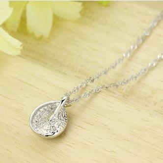 Commercio all'ingrosso d'argento a forma di cuore cristallo donne collana & ciondolo - Pagina 4