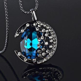 Prodotto nuovo donne collana cristallo lega gioielli retrò & pendente della collana - Pagina 2