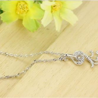 Donne moda pavone collana & pendente argento intarsiate del diamante - Pagina 4