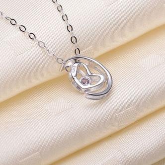 Argento a forma di cuore di placcatura decorazione Hot vendita collana pendente - Pagina 3