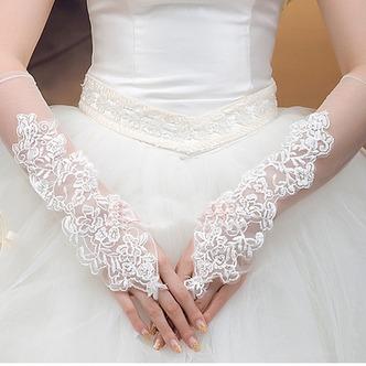 Guanti da sposa Primavera tessuto Romantici Bianco Sottile Ombra - Pagina 1