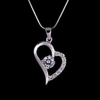 Vendita calda a forma di cuore placcatura donne Bright Shine & ciondolo collana - Pagina 3